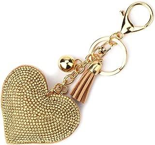 Girl Women Love Heart Tassel Keychain, Purse Bag Charm, Handbag Accessories, Car Key Chain