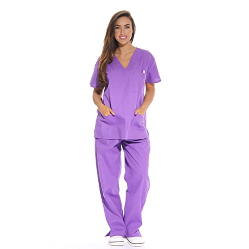 fd86f943866 Just Love Women's Scrub Sets Six Pocket Medical Scrubs (V-Neck with Cargo  Pant