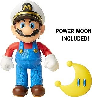 "Nintendo Super Mario Captain Mario 4"" Articulated Figure with Power Moon"