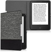 kwmobile Funda de e-Book Compatible con Tolino Shine 2 HD -Case de Cuero sintético Gris Oscuro/Negro