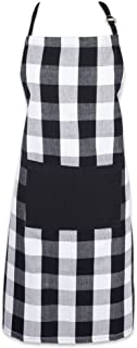 """DII Cotton Adjustable Buffalo Check Plaid Apron with Pocket & Extra-Long Ties, 32 x 28"""", Men and Women Kitchen Apron for C..."""