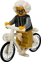 LEGO Albert Einstein Riding a Bike - Custom Famous Scientist on a Bicycle Minifigure