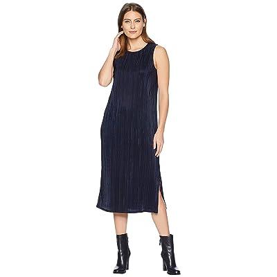 NIC+ZOE Revamp Pleated Dress (Dark Indigo) Women