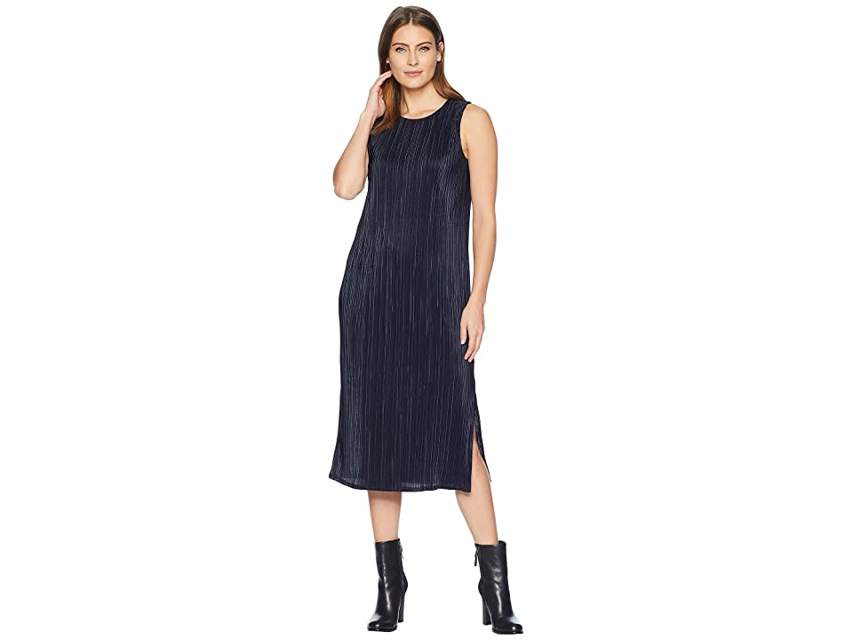 NIC+ZOE Revamp Pleated Dress (Dark Indigo) Women