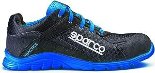 Sparco 0751741NRAZ Scarpa Antinfortunistica Da Lavoro, Nero/Blu Sparco, 41 EU