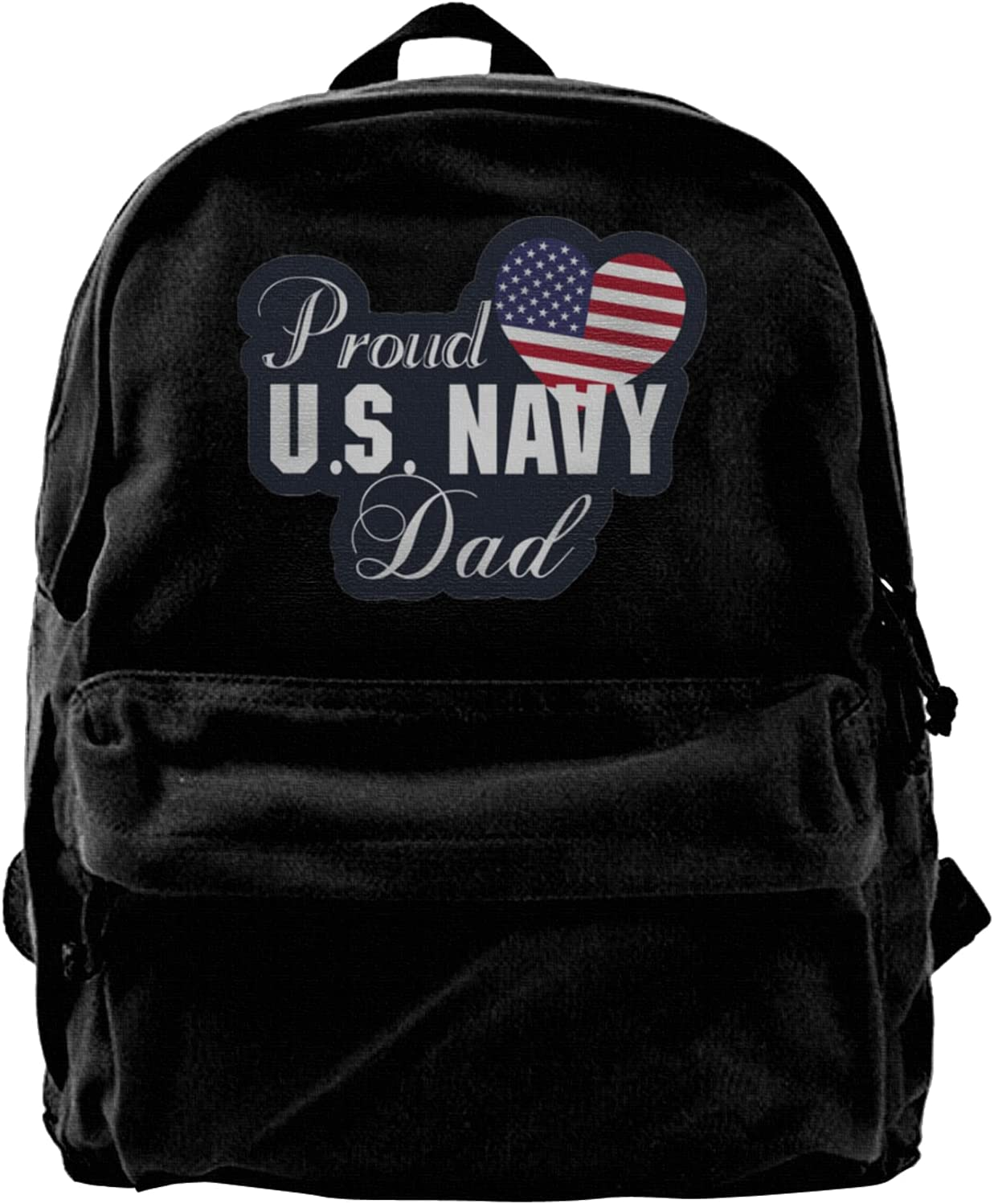 Proud Navy Dad Canvas Backpacks High-Capacity Bags School Laptop A surprise Super sale period limited price is realized