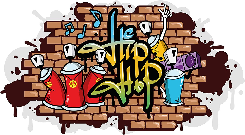 Wandtattoo Wandtattoo Wandtattoo Jugendzimmer Hip Hop Graffiti Style Wandausbruch Wandsticker B072FK2VTL 5677a7