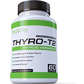 BioCor Nutrition Thyro-T2 Thyroid Stimulant Free Fat Burner Metabolism Booster and Weight Loss Diet Pills That Work for Men & Women (60 Capsules - 1 Month Supply)