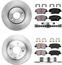 FRONT 300 mm + REAR 283 mm Premium OE 5 Lug [4] Rotors + [8] Quiet Low Dust Ceramic Brake Pads + Clips