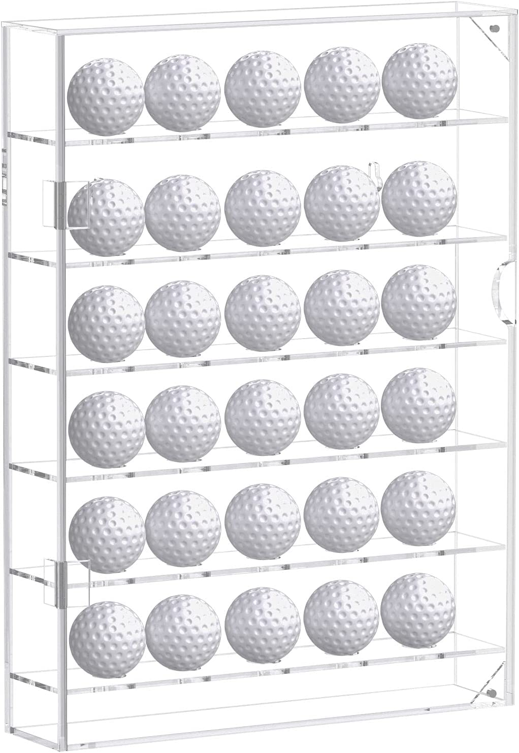 Latest item Popular brand in the world FEMELI Acrylic 30 Golf Ball Clear Hold Cabinet Case Display