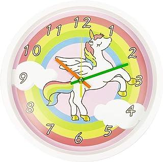 ساعت دیواری رنگارنگ مارک Battery Operated باتری بدون تیک تاک کار میکند،برای اتاق نشیمن،آشپزخانه،اتاق خواب،اتاق بازی،مدرسه،کلاس درس،مدل حیوانات کارتونی(30سانتیمتر)