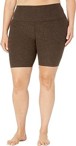 Plus Size High Waisted Biker Shorts