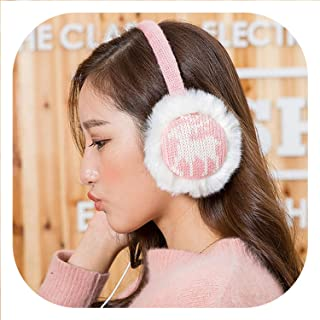New Plush Female Winter Earmuff Warm Ear Muffs Headphones Girls Earmuffs Music Earphone Ear Warmers Protector Fur Headphones,Deer Pink