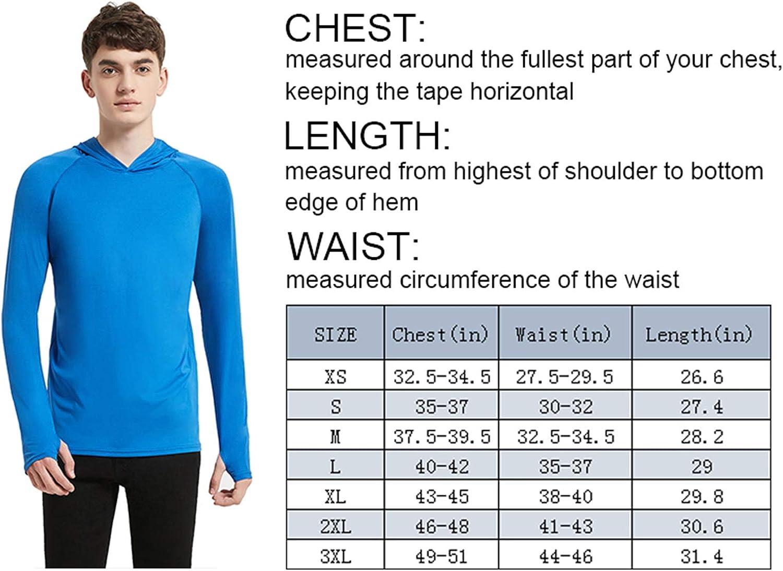 Sun Protection Hoodie Shirt Long Sleeve SPF//UV Lightweight Fishing Workout Shirt Outdoor Starlemon Mens UPF 50