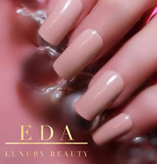EDA Luxury Beauty Nude Pink Ultimate Glamorous Design Gel Glitter Full Cover Press On Shiny Shimmer Artificial Nail Tips Acrylic Perfect False Nails Extra Long Square Super Fashion Gorgeous Fake Nails