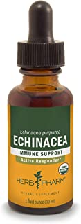Herb Pharm Certified Organic Echinacea Root Liquid Extract for Immune System Support - 1 Ounce