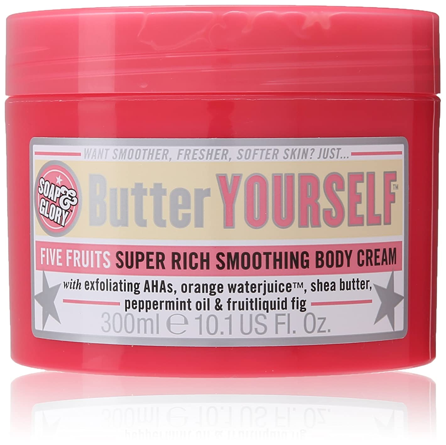 女性送信する興奮Soap And Glory Butter Yourself Five Fruits Super Rich Smoothing Body Cream 300ml