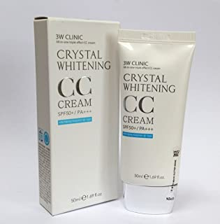 [3W CLINIC] クリスタルホワイトニングCCクリーム50ml SPF50 PA +++ / #01 Glitter Beige/Crystal Whitening CC Cream 50ml SPF50 PA+++ / #01 Glitter Beige/韓国化粧品/Korean Cosmetics [並行輸入品]