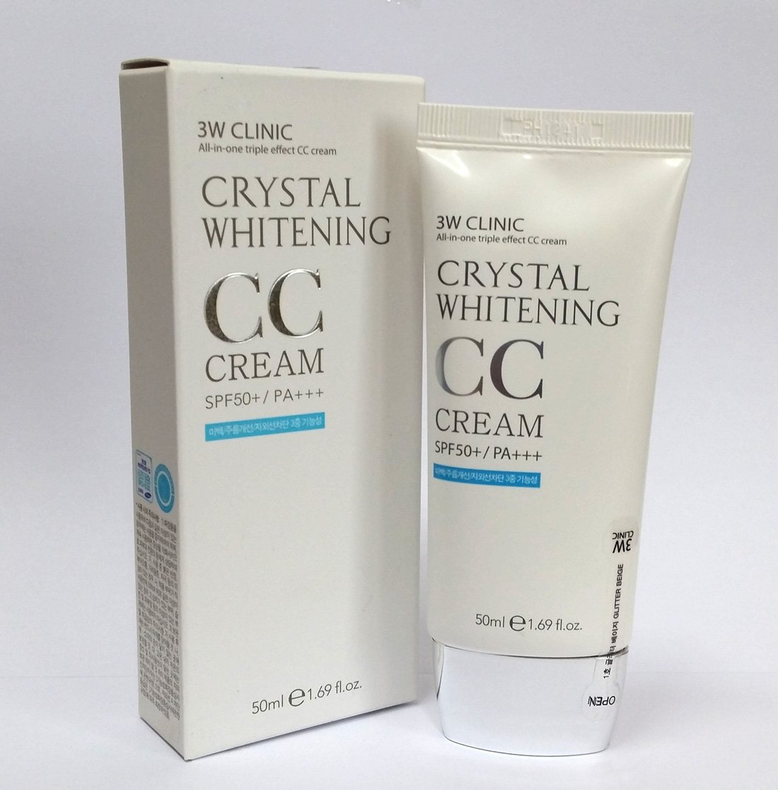 3W CLINIC Crystal White CC Cream PA+++ 50ml Opening large release sale sale c Multi-CC SPF50