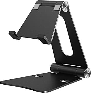 iKsee Cell Phone Stand, Adjustable Phone Stand, Dual Foldable Cell Phone Holder, Cradle, Dock for 4-10