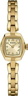 Bulova Womens 97L155 Quartz Champagne Dial Gold-Tone Bracelet 18mm Watch (Renewed)