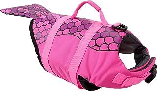 Mogoko Dog Life Jacket, Dog Swimming Floatation Device, Canine Pet Life Preserver Vest with Reflective Stripes/Padded Handle for Dogs