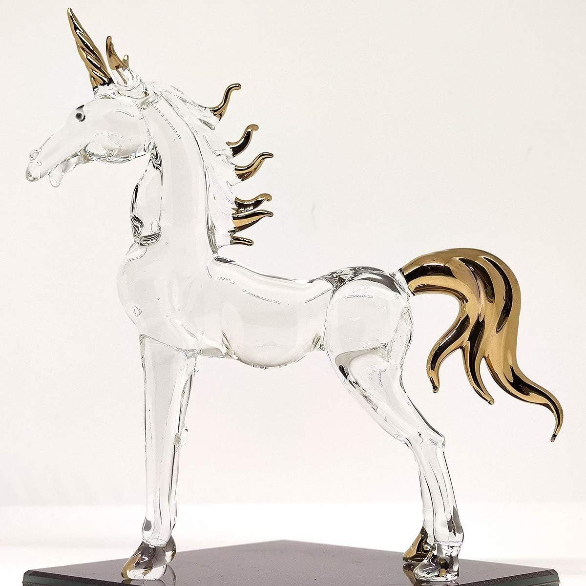unisex Sansukjai 6 Inches Unicorn Minneapolis Mall Miniature Hand Glass Blown Figurines