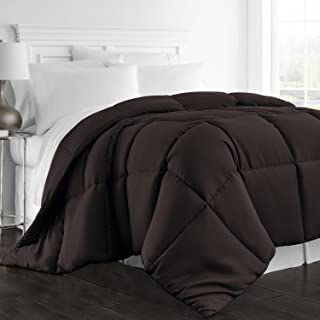 Beckham Hotel Collection 1300 Series - All Season - Luxury Goose Down Alternative Comforter - Hypoallergenic - Queen/Full - Chocolate