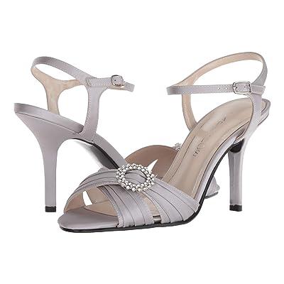 Caparros Pizzle Satin Heel (Silver) High Heels