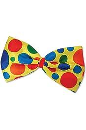 accesorios para disfraces Circus World Book Day Gifts 4 All Occasions Ltd 11667 color amarillo SHATCHI Bow Tie Clow Clown Jumbo pajarita unisex-adulto talla /única