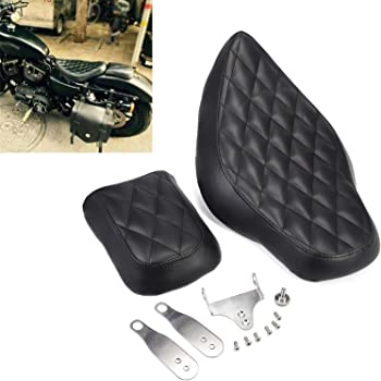 GUAIMI Driver Front Rear Passenger Seat Two Up for Harley Dvidson Forty-eight 2010-2016 Seventy-two 2010-2016 Sportster 1200 883 Models