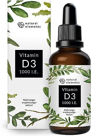 Vitamin D3 - Laborgeprüfte 1000 I.E. pro Tropfen - Preis-Leistungs-Sieger 2019* - 50ml (1750 Tropfen) - In MCT-Öl aus Kokos - Hochdosiert, flüssig und hergestellt in Deutschland