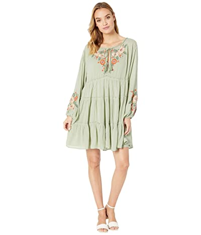 Free People Spell on You Embellished Mini Dress (Green) Women