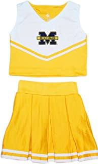 University of Michigan Wolverines Split M Toddler and Youth 2-Piece Cheerleader Dress