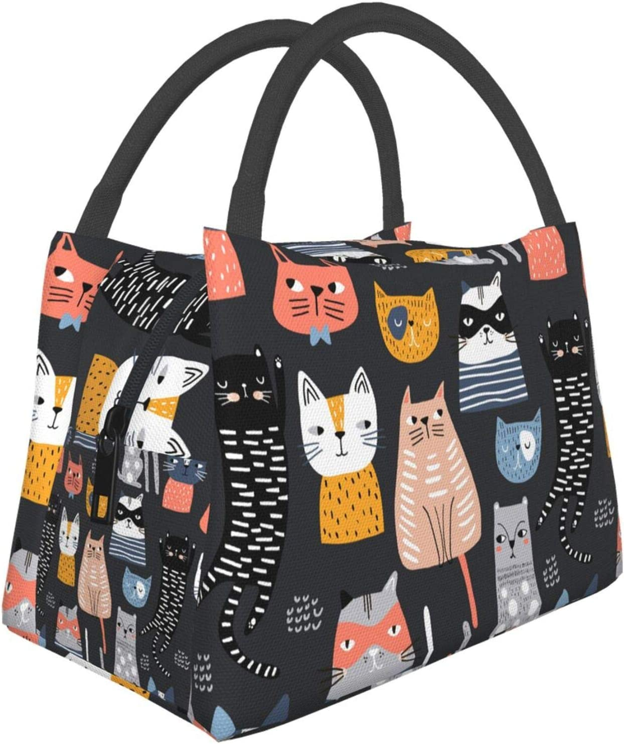 CUAJH Women's Cute Cat Insulated Thermal Popular popular Lunch Tote Reusable Bag Ranking TOP15