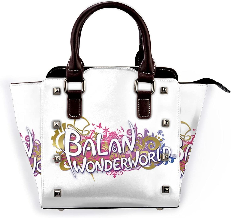 AYTOYY Balan 2021 model Wonder World Fashion Bag free Shoulder Leather Rivet Pu