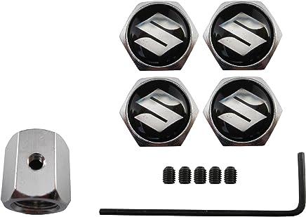ETMA Valvulas antirobo de acero inoxidable para coche Suzuki negro aut013-35
