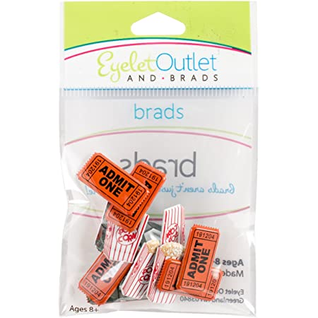 Eyelet Outlet Shape Brads 12//Pkg Bicycle 810787024690