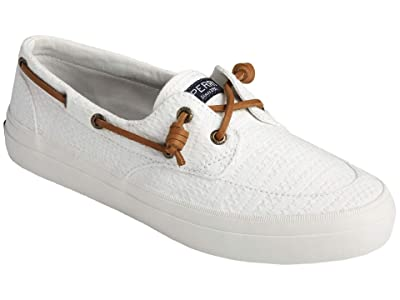 Sperry Crest Boat Smocked Hemp (White) Women