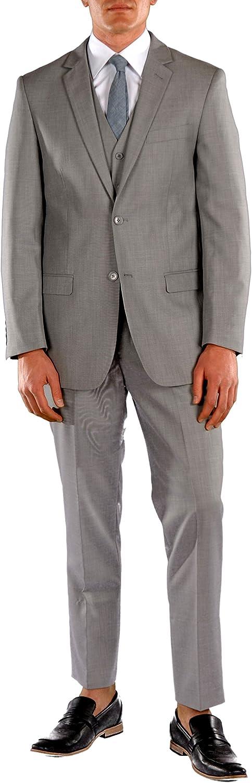 Ferrecci Men's Suit Notch Lapel 3 Piece Suit Set - Blazer Jacket, Dress Pants, and Vest
