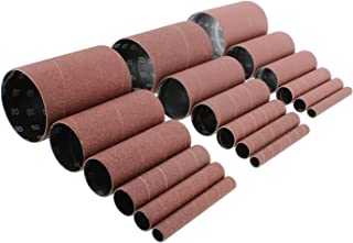 ABN Aluminum Oxide Spindle Sanding Sleeves 18-Pack – 4.5in Length, Assorted 80 120 240 Grit, 1/2in to 3in Sandpaper