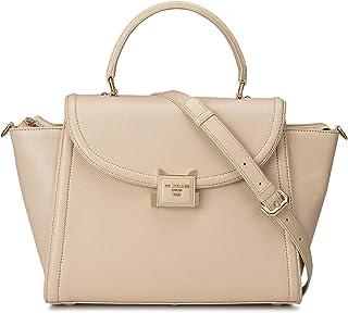 Beige Franzy Satchel Bag