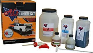 Al's Liner ALS-TAN Tan Premium DIY Polyurethane Spray-On Truck Bed Liner Kit, with Free Adhesion Promoter and Small Mix Paddle, Great for Rocker Panels, Bed Rails, and Full Vehicle Sprays - 1 Gallon