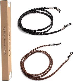 ORIGINAL GERNEO/® Halterungen gold retro Brillenband Wildlederoptik Unisex PU Brillenkordel f/ür Sonnenbrillen /& Lesebrillen