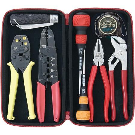 SK11 電気工事士技能試験工具セット 8点組+ツールケースセット 各種メーカー品を厳選 SDK-9TC