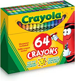 Best Crayola Crayons, Crayon Box with Sharpener, 64 ct Review