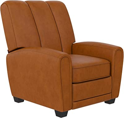 DHP Vertical Pushback, Camel Faux Leather Recliner
