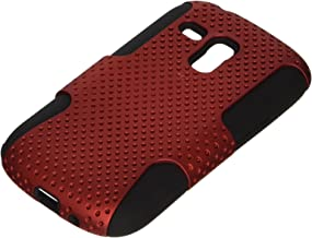 iCues Case Compatible with Samsung Galaxy S3 Mini 2 Part Air Red [Screen Protector Included] Heavy Duty Hard Cover shookproof Protection Shell Tough Military Protective Boys lifeproof Men