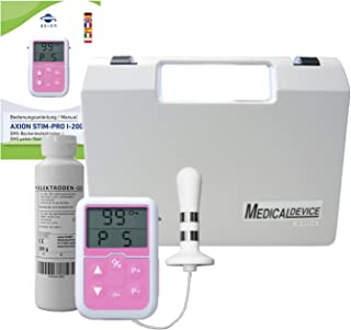 Electroestimulador anal para suelo pélvico - Sonda rectal Stimpro 20 y gel de contacto - (5 programas) - Ayuda contra la incontinencia y problemas de próstata - Calidad axión