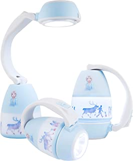 Disney Frozen Anna and Elsa 3-in-1 LED Lantern, Single-Pack, Night Light, Battery Operated, 200 lumens, High/Low/Off, Flas...